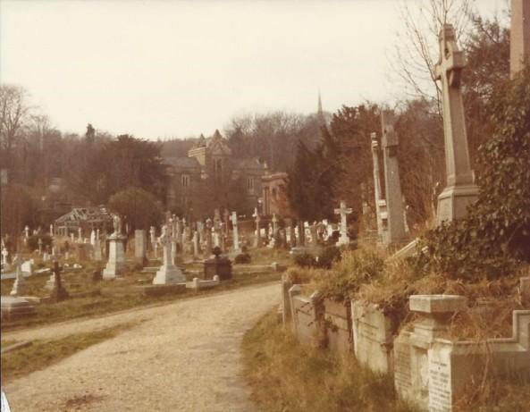 Highgate Cemetery March 1978